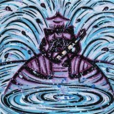 Nanã reigns over all springs and fountains. Its Waters move up, propelled by the Fire at the center of the Earth. After they become purified by Obá, they are renewed and born again above the surface.